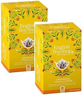 English Tea Shop Bio Infusion von Zitronengras, Ingwer und Zitrusfrüchten natürlich koffeinfrei - 2 x 20 Beutel 60 Gramm