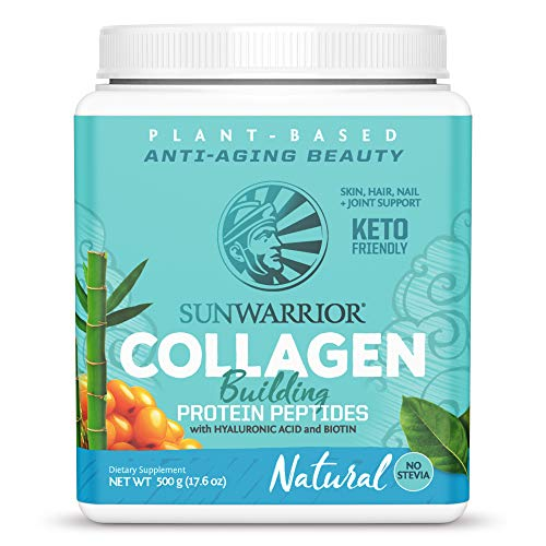 Sunwarrior - Vegan Collagen Building Protein Peptides with Hyaluronic Acid and Biotin - Natural - 500g