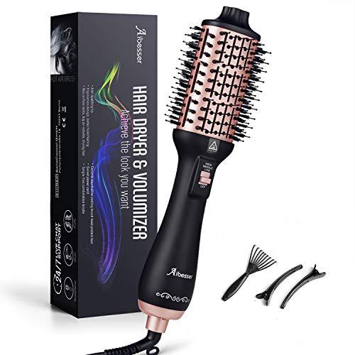 Aibesser Haartrockner, Warmluftbürste ionen Heißluftbürste Föhnbürste mit Ionen Technologie Heißluftkamm, 2020 Neueste Hair Dryer and Volumizer Styler Stylingbürsten Haarglätter Bürste