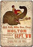 NOT AI G. Kelly Miller Bros Circus Blechschild Plaque