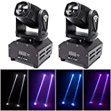 DJ Lights Moving Head U`King Mini LED Moving Head Light RGBW Stage Lighting Beam Spot Lights by DMX 512 Sound Activated Control for Wedding Disco Party Indoor