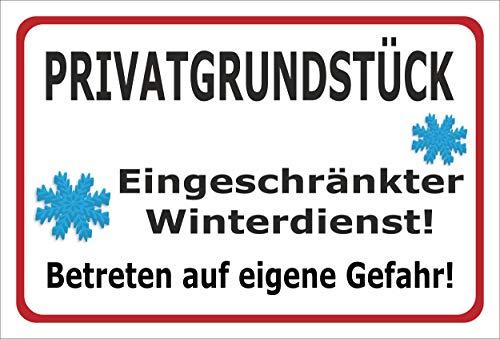 Melis Folienwerkstatt Schild Privat-grundstück - 30x20cm - 3mm Aluverbund – 20 VAR S00018-118-B