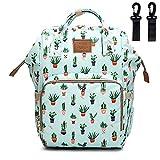 Sunborls(AHONG) Cactus Waterproof Mummy Maternity Nappy Bag Travel Backpack Baby Nursing Bags (Green Cactus),Medium