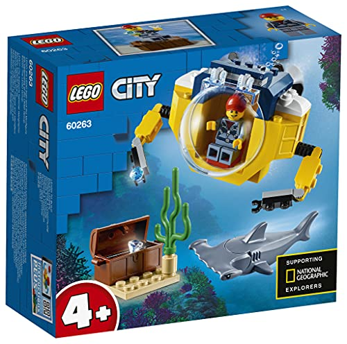 LEGO 60263 City Mini-U-Boot für Meeresforscher Unterwasser-Set, Tauchabenteuer-Spielzeug für Kinder ab 4Jahren