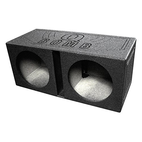 Q Power QBOMB12V Dual 12-Inch Vented Speaker Box with Durable