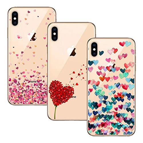 Young & Ming Compatible per Cover iPhone XS Max, [3 Pack] Trasparente La Protezione Superiore Leggero Sottile Silicone Premium TPU Case, Color 1