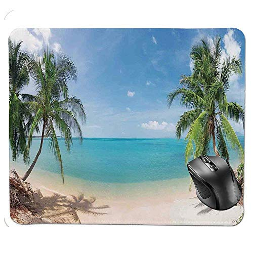 Ergonomic Mouse pad,Panoramic Tropical Beach Exotic Sand Vacations Decorative Mouse Pad