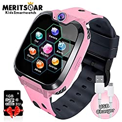 Kids Games Watchs Phone - 1.54 inch Touch Screen Game Smart Watch with MP3 Music Player Call SOS Calculator Alarm Clock Camera 7 Games Watchs for Boys Girls Birthday Gifts