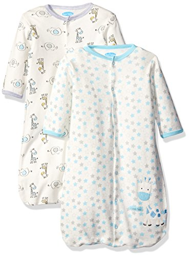 BON BEBE Baby Best Friends Assorted 2 Pack Wearable Blanket, Neutral, 0-6 Months