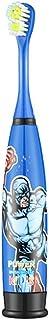 電動歯ブラシ ブルースーパーマンパターン電動歯ブラシ防水ソフトヘアクリーニング歯ブラシ 子供と大人に適して (色 : 青, サイズ : Free size)