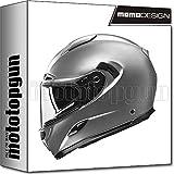 Momo Design - Casco de moto integral Hornet Titanium Frost, talla L