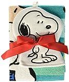Jay Franco Peanuts Best Friends 2 Piece Washcloth/Bath Towel Set, Stripes