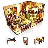 Cuteefun Casa Miniatura para Montar DIY Adultos Mini Habitación Hecha a Mano con Música a Prueba de Polvo y Muebles para Decoración, Regalos Artesanales Creativos para Mujeres (Quite Time)