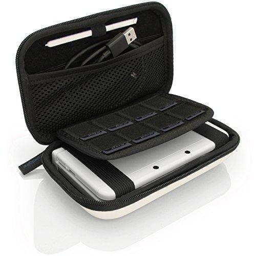 igadgitz U6337 - EVA Hard Case Cover Compatible with Nintendo 3DS XL & 2DS XL 2017 - White