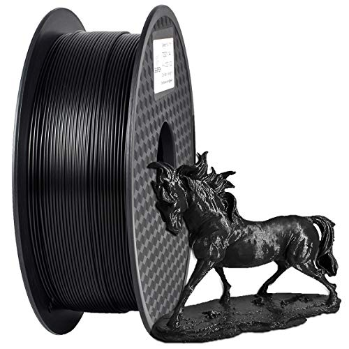 PLA Filament 1.75mm, GIANTARM 3D Drucker Filament PLA 1kg Spool (schwarz)