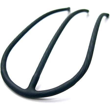 Eスティック -Pro- マットブラック インナー ヘアアクセ 簡単 まとめ髪 夜会巻き ヘアアクセサリー 専門店 [リトルムーン] ブラック