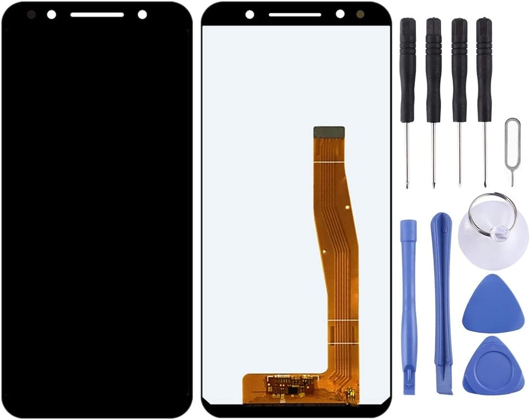 Color : Black Black HTTX TENS AYSMG LCD Screen and Digitizer Full Assembly for Alcatel 3L 5034D 5034