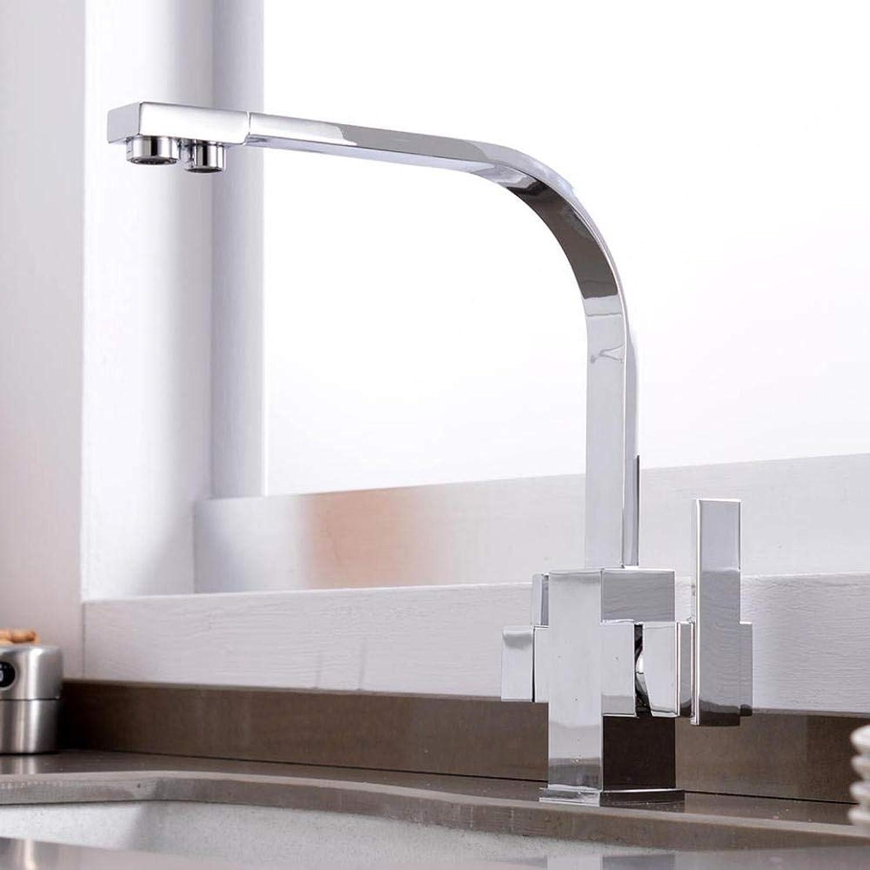 Küchenarmatur Filter Schwarz Wasserhahn Küchenarmatur Messing Zwei Loch Platz Küche Bar Trinkwassermischer Kran