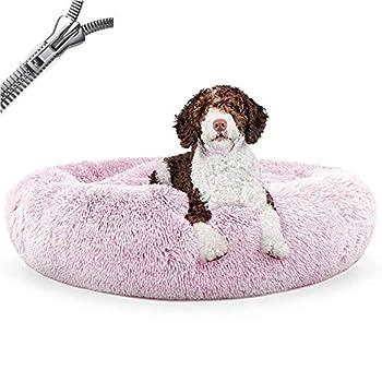 Puppy Love Panier Chien, Coussin Chien Anti Stress XXXL Dehoussable,Paniers Et Mobilier pour Chiens, Lit Moelleux Rond pour Chien, Lavable, Confortable#7-80cm