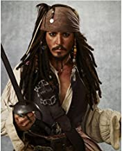 Pirates of the Caribbean Johnny Depp as Captain Jack Sparrow Ready to Fight 8 x 10 Inch Photo