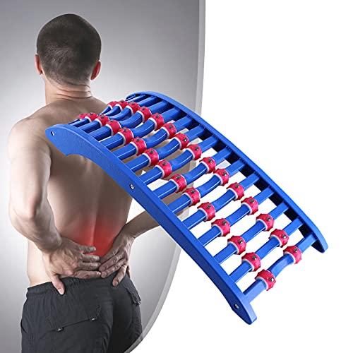 ZhiLianZhao Masajeador para Espalda Lumbar, Dispositivo de Estiramiento Lumbar, con Puntos Masaje, para Silla Oficina, Hernia Disco, Ciática, Escoliosis,B