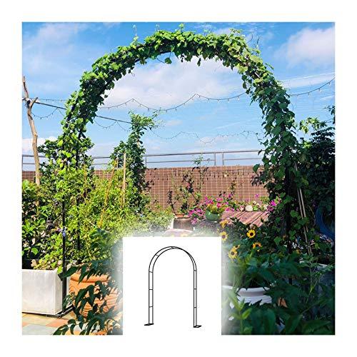 HLMBQ Arco de metal, Arco de jardín Trellis, Arco tubular de boda para escalar plantas al aire libre, robusto cenador de rosas, soporte de enrejado, 140 x 230 cm