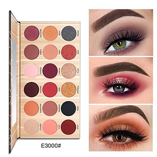Luckhome 🌹Farbe Kosmetik Matte Lidschatten Creme Augen Schatten Make-up Palette Schimmer Set 18...