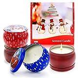 ASANMU Regalo de Velas Perfumadas, Navidad Velas Aromaticas Regalos Originales para Mujer Cera de Soja Natural Velas de Aromaterapia Vela Aromática Regalo para Boda/Yoga/Cumpleaños/Día de San Valentín