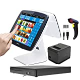 ZHONGJI New PC dual touch screen cash registers for restaurants or retail stores SET04