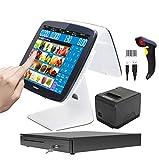 ZHONGJI Nouvelles caisses enregistreuses à double écran tactile PC pour les restaurants ou les magasins de détail SET04
