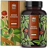 Holi Natural® Roter Panax Ginseng Extrakt (10:1)   120 Kapseln vegan   1200mg je Tagesdosis   20% Ginsenoside   Echter koreanischer Ginseng C.A. Meyer