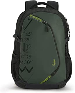 Skybags Backpacks For Unisex, LPBPZYP2OLV, Green