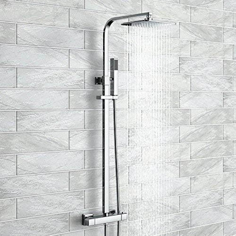 GFF Dusche Thermostat-Duschset Warmes und kaltes Wasser Kupfer Wasserhahn Hauptkrperdusche Lift Badewanne Handbrause Mischbatterie