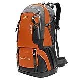 OcioDual Mochila Naranja 60 litros 60L Impermeable con Cierres Asas y Correas de Seguridad Senderismo Trekking Camping