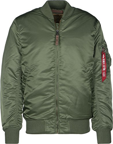 Alpha Industries Herren 168100-1-l Bomberjacke, Grün (Sage/Green 1), Large