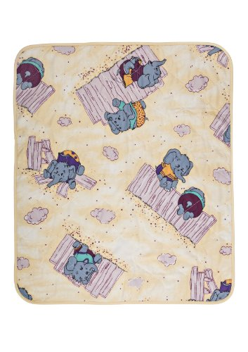 Clinotest Inkontinenzunterlage für Baby's und Kinder, Bettschutz/Nässeschutz/Matratzenschoner, mit einem süßen Elefantenmotiv, in der Größe 50 x 60 cm