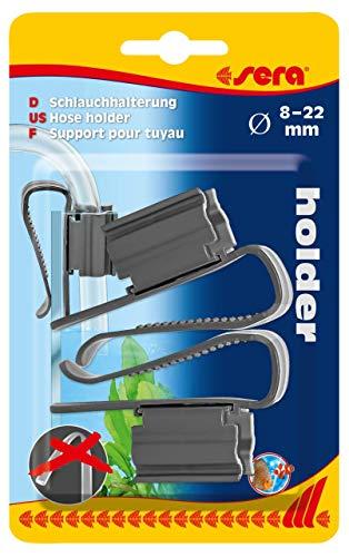 sera 45070 Schlauchhalterung für Schläuche von 8 bis 22 mm, idealer Schlauchhalter für den Eimer beim Wasserwechsel im Aquarium mit der Mulmglocke oder Bodengrundreiniger