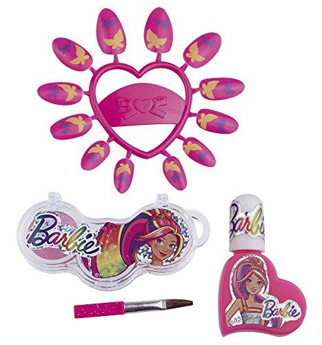 Happy People 52005 Barbie Schmink-Set Schlüsselanhänger, für Mädchen, Make-Up Zubehör
