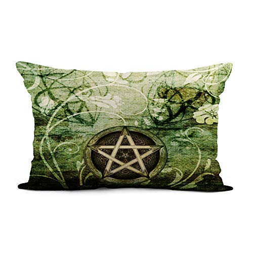 Topyee Throw Pillow Cover 12x20 Inch Wiccan Wicca Rustica Woodland Pagan Witch Handfasting Wedding Celtic Home Decor Pillowcase Lumbar Pillow Case Cushion Cover for Sofa Couch Bed