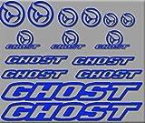 Ecoshirt BX-4GMP-F335 Aufkleber Ghost Bike R207 Aufkleber Sticker Decals Aufkleber, Blau