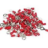 100 x Stück Ringkabelschuhe in rot 0