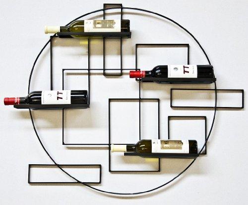 """DanDiBo Scaffale Vini """"Pi4"""" Supporto Bottiglie in Metallo 90cm Porta Bottiglie Scaffale a Parete Scaffale"""