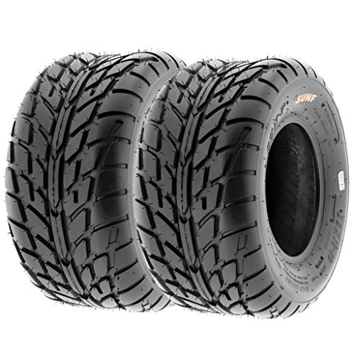 Pair of 2 SunF A021 TT Sport ATV UTV Dirt & Flat Track Tires 20x10-10, 6 PR, Tubeless