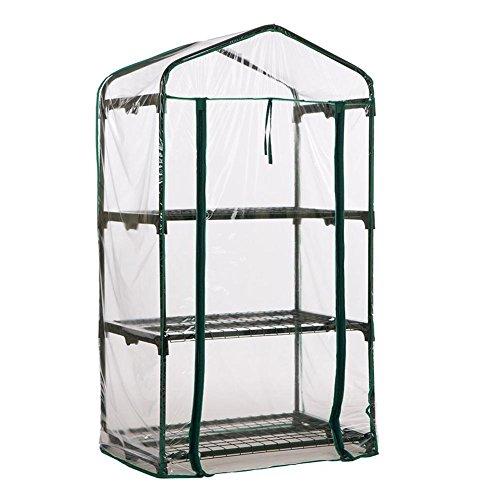 Fervory Mini serra da giardino in PVC trasparente, per piante grasse, fiori, piante verdi, isolante (senza supporto in ferro)