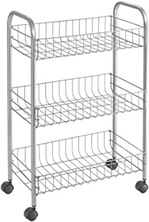 Metaltex Lugano 34010339 Chariot multi-usages 3 tages Revtement Polytherm, 41 x 23 x 63 cm
