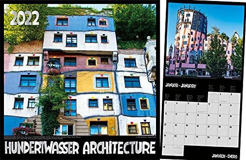 Hundertwasser Broschürenkalender Architektur 2022: Das Original
