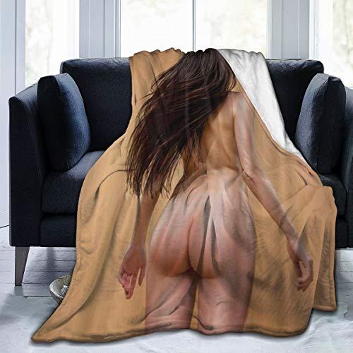 MUYIXUAN Soft Fleece Throw Blanket,Belle Femme nue posant isolé Sur Fond Beige,Home Hotel Sofá Cama Sofá Mantas para Parejas Niños Adultos,120x150cm