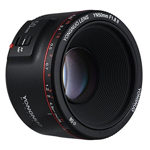 YONGNUO YN50 mm F1.8 II estándar Prime lente de gran apertura Auto Focus 0,35 más cercana longitud focal compatible con Canon EOS 70D 5D2 5D3 600D cámara DSLR