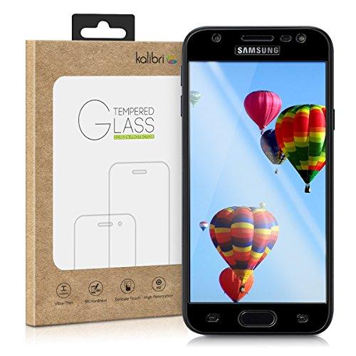 kalibri Folie kompatibel mit Samsung Galaxy J3 (2017) DUOS - 3D Glas Handy Schutzfolie - auch für gewölbtes Display