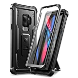Dexnor for Samsung Galaxy S9 Case, [Built in Screen Protector and Kickstand] Heavy Duty Military Grade Protection Shockproof Protective Cover for Samsung Galaxy S9 Black